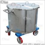 Дежа 400 литров с крышкой из 2-х половин (AISI 304)