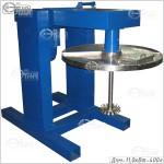 Дисольвер с подъемным механизмом для дежи 400л (рабочее положение)