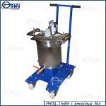 Мешалка навесная с пневмодвигателем 1,1 кВт и емкостью 30 литров (на тележке)